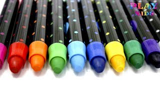 Learn ABC's with Colored Pencils | ABC song for children Learn alphabet