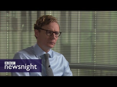 Cambridge Analytica CEO Alexander Nix - BBC Newsnight