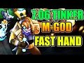 POWER Of FAST HAND - Miracle- [Tinker] Dota 2 7.06