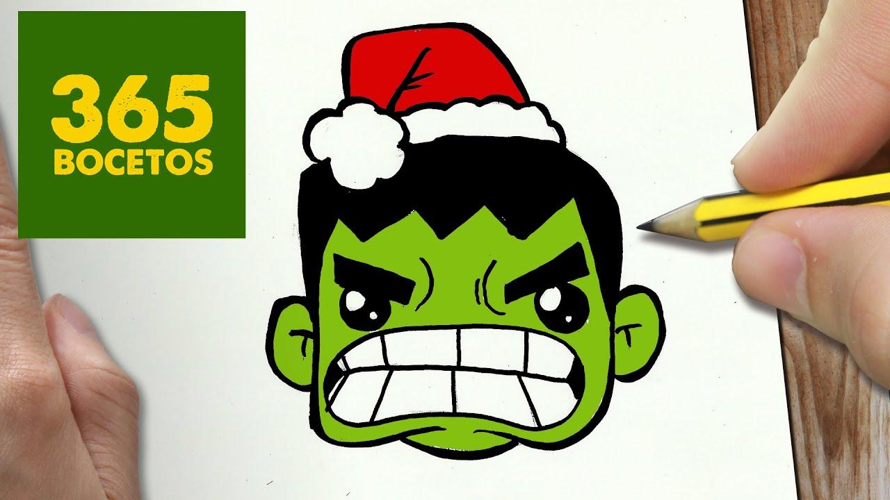 Como Dibujar Un Hulk Para Navidad Paso A Paso Dibujos