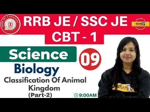 Class-09 ||#RRB JE/SSC JE/CBT -1 || Science || Biology|| By Amrita Ma'am |Classification Of Animal