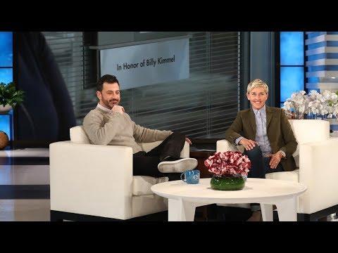 Ellen Surprises Jimmy Kimmel with a Dedication to His Son
