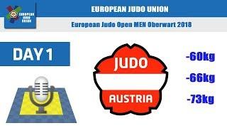 European Judo Open Men - Oberwart 2018 - Day 1