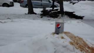 Mentos and Diet Pepsi geyser.