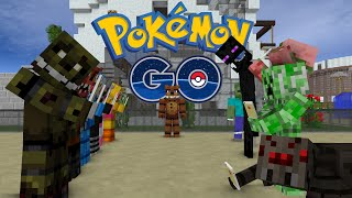 FNAF vs Mobs: Pokemon GO Challenge - Monster School (Five Nights At Freddy