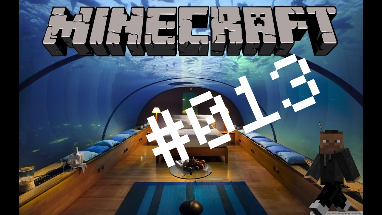 Lets Play Minecraft Unterwasser Haus YouTube - Minecraft haus unter wasser bauen