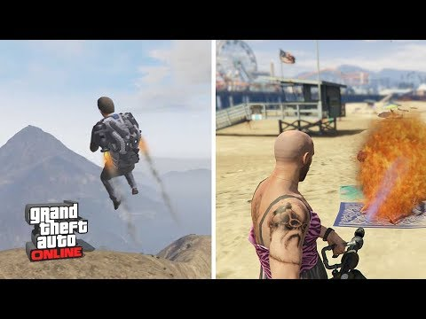 GTA Online DLC JetPack, Flamethrower, Batman Suit, New Vehicles & Weapons - Future GTA 5 DLC Content