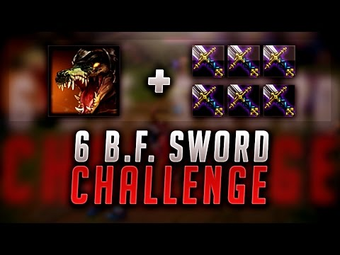 THE 6 BF SWORD CHALLENGE! 1000+ DAMAGE RENEKTON! - League of Legends Gameplay
