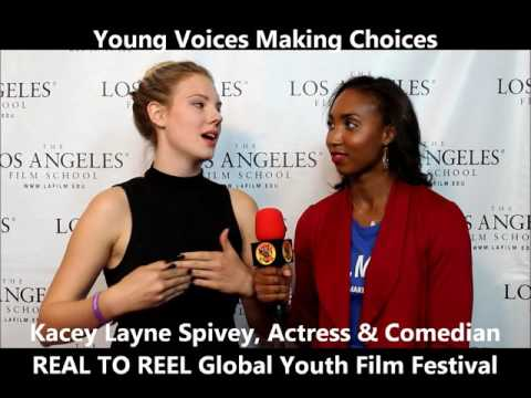 Kacey Spivey at REAL TO REEL Global Youth Film Festival