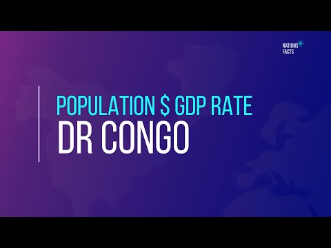 DEMOCRATIC REPUBLIC OF THE CONGO Population $ GDP Rate 💰 Current GDP Rate ▪ Export & Import