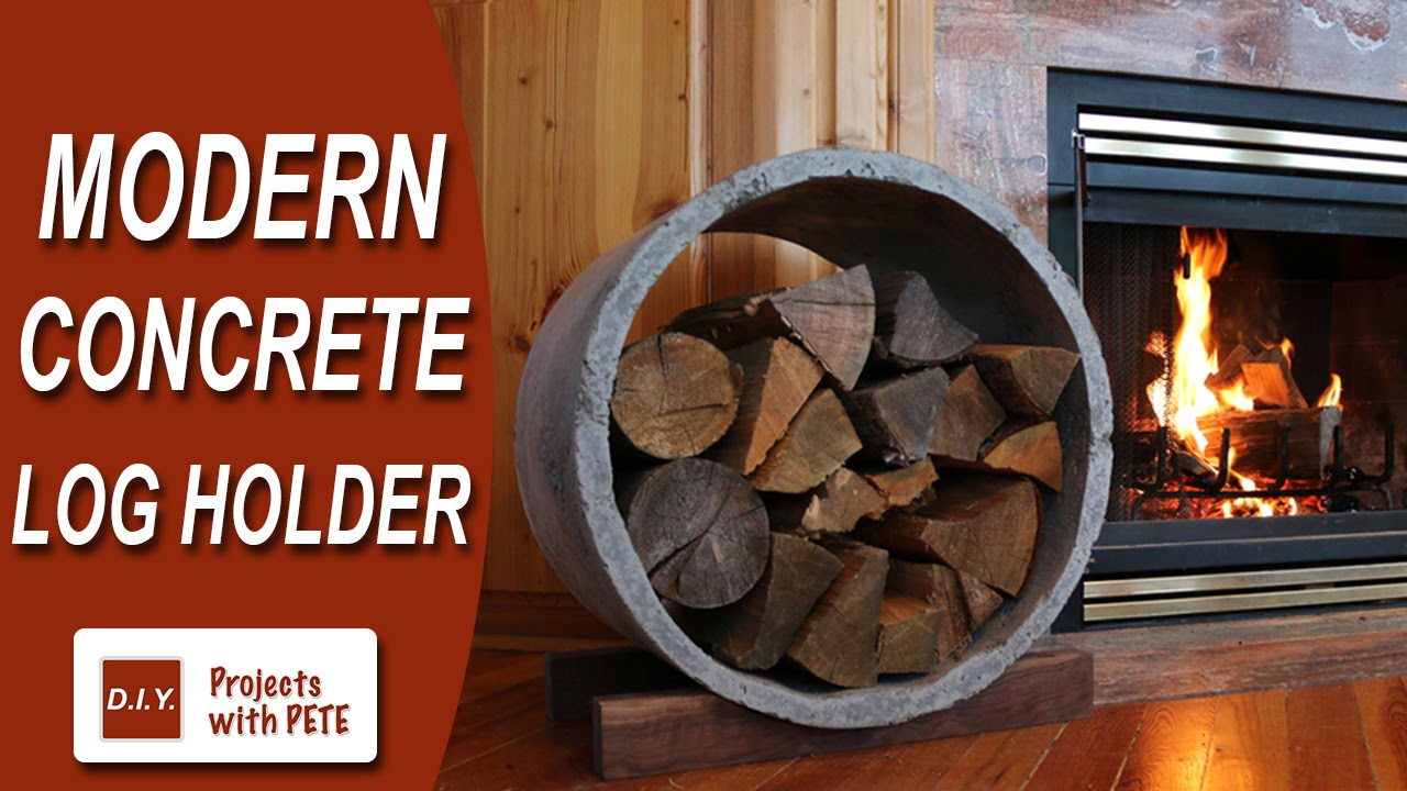 How To Make A Modern Concrete Log Holder Ryobi Nation Youtube