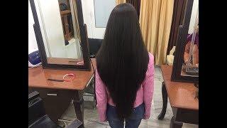 V Cut on Long Hair Tutorial in Hindi