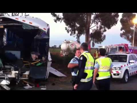 School bus and petrol tanker crash at St Germains