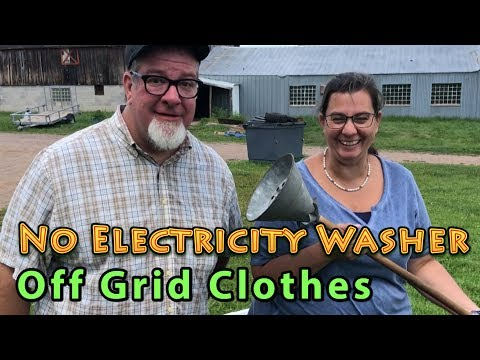 No Electricity Washer Off Grid