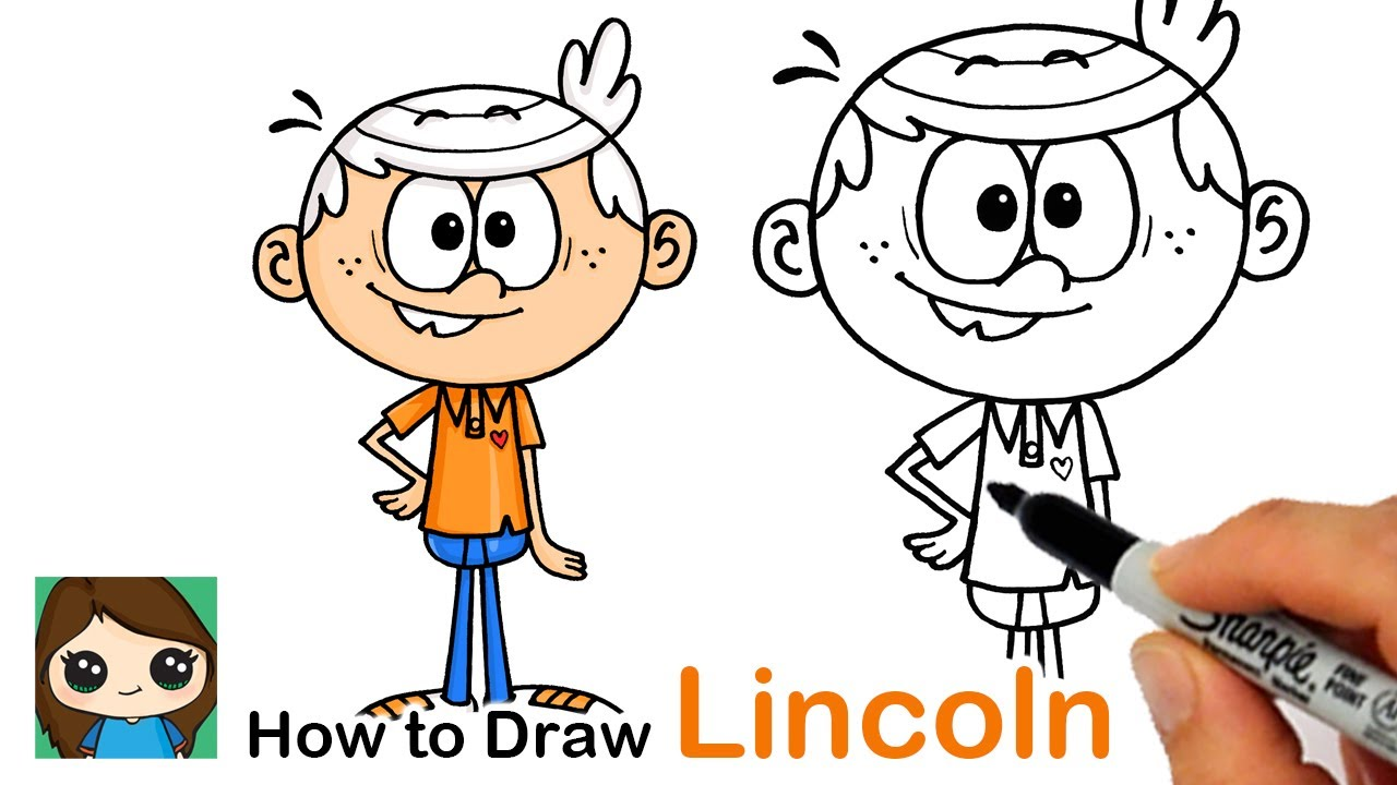 How to Draw Lincoln   The Loud House