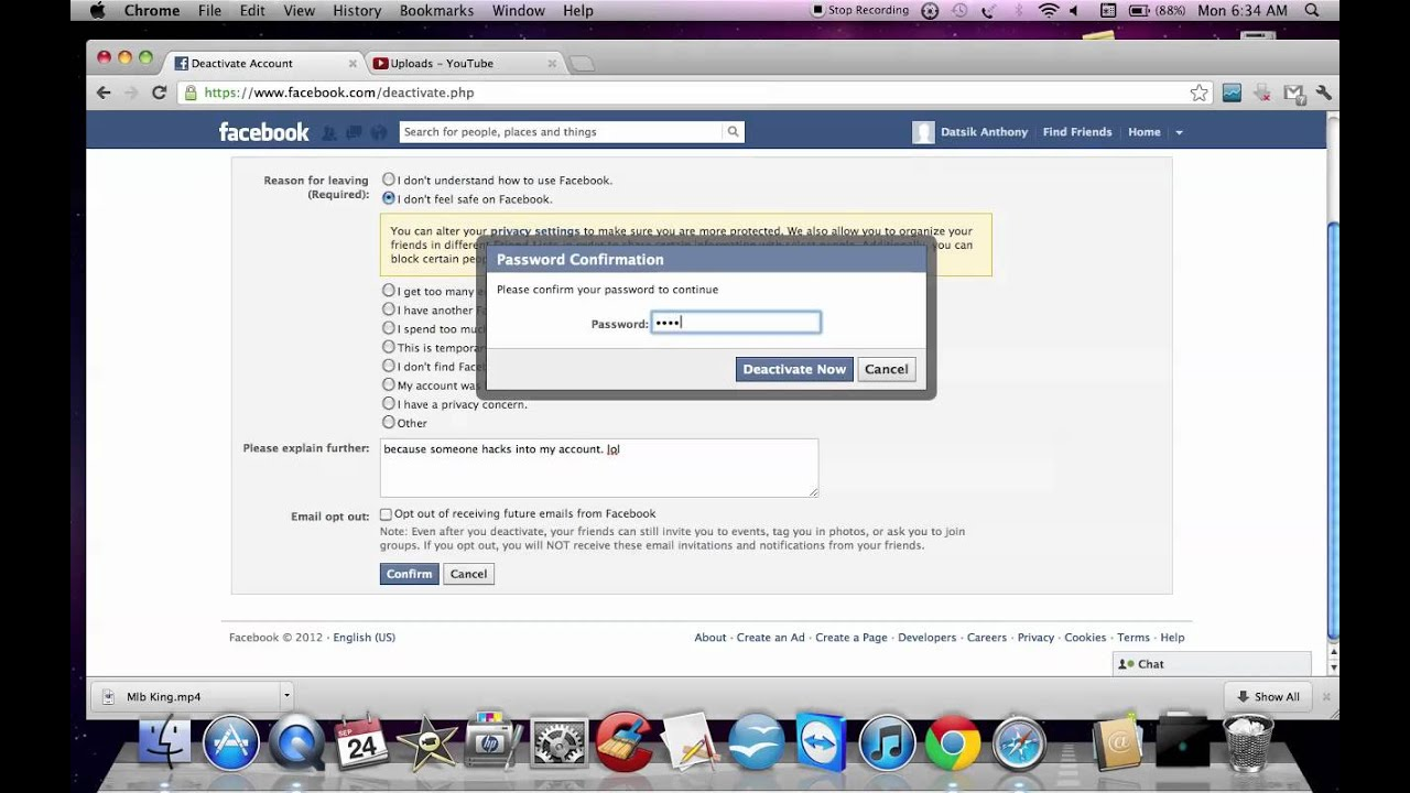 How to deleteclose facebook account youtube how to deleteclose facebook account ccuart Images