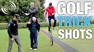 Can We Do These GOLF TRICK SHOTS? | ME AND MY GOLF