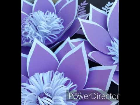 Beautiful paper flower decoration \ How to decorate home with paper flowers