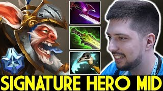 W33 [Meepo] Signature Hero Mid Destroy Pub Game 7.25 Dota 2