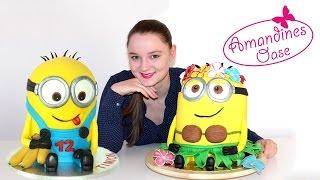 Minion Torte - 3D Fondanttorte | 2 Varianten | ausführliche Anleitung auf deutsch | Verlosung