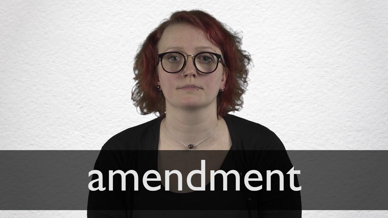 Amendment Definition und Bedeutung  Collins Wörterbuch