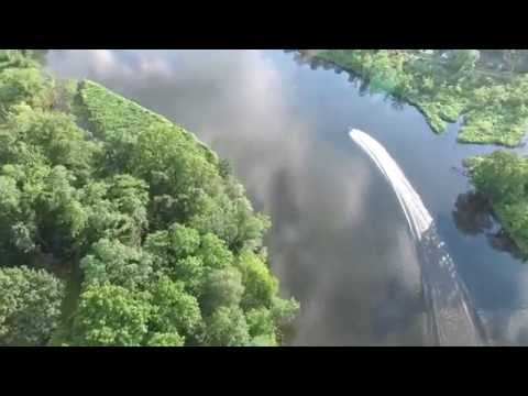 Bordentown NJ River Line Train and Jet Ski from 400 feet