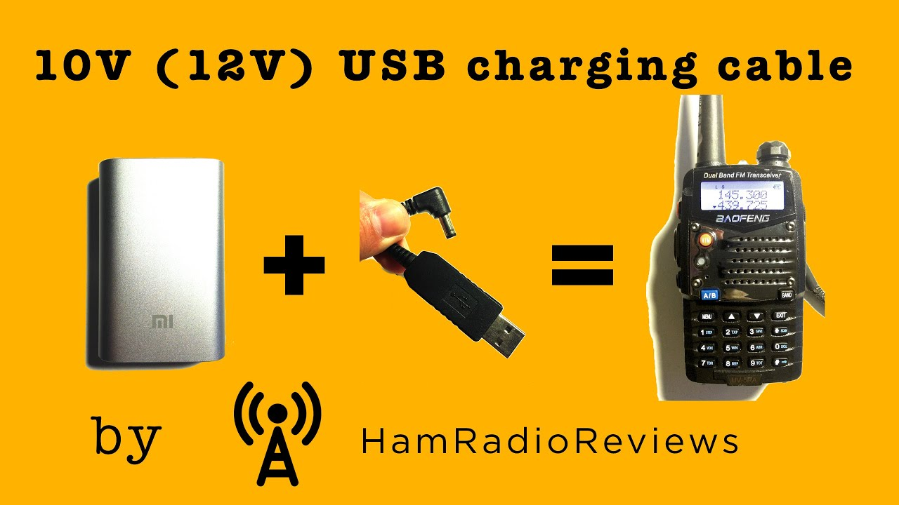 10v Usb Charging Cable For Hts Youtube 12v Linear Regulator Transceiver Radio