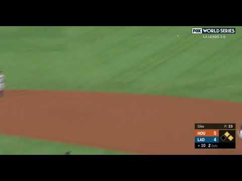 Kike Hernandez Game-Tying Single vs Astros | Dodgers vs Astros Game 2 World Series