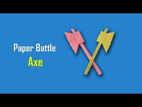 How to Make a Paper Battle Axe | Simple Origami Paper Axe For Kids | Easy Paper Weapon Tutorial