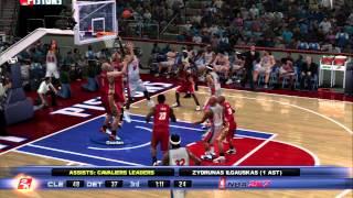 NBA 2K7 - Cavs vs Pistons - LeBron Too Good