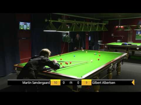 DM Snooker Individuelt 2016/17 | Martin Søndergaard - Gilbert Albertsen | Semifinale