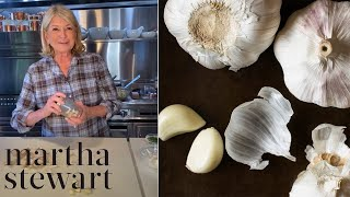 Martha Shares Her New and Improved Method for Peeling Garlic | Cooking Tips | Martha Stewart