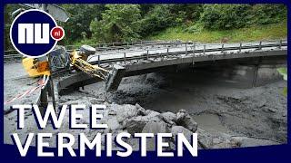 Twee mensen vermist na enorme modderstroom in Zwitserland