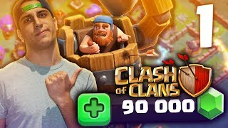 90.000 GEMME per POTENZIARE IL VILLAGGIO SU CLASH OF CLANS!! ( 1 parte )
