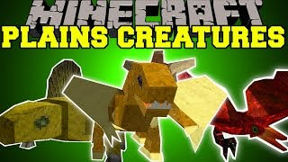 Minecraft: PLAINS CREATURES (ITEM THIEVES, GLIDING PETS, & ANNOYING BIRDS!) Mod Showcase