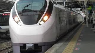 常磐線E657系特急ときわ61号勝田行土浦駅発車※発車メロディー「きらきら星変奏曲」あり