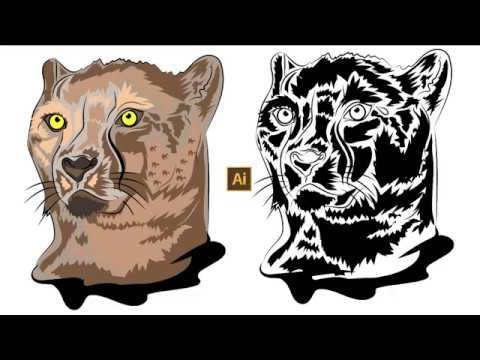How to Draw Tiger Vector |  Adobe Illustrator CC 2019 tutorial |  Exclusive thumbnail
