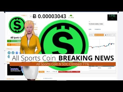 Cryptocurrency All Sports Coin $SOC Has Risen 71% During the Last 24 Hours