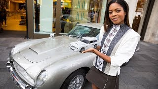 Naomie Harris reveals the new 2018 LEGO James Bond Aston Martin DB5 set @ LEGO London store!