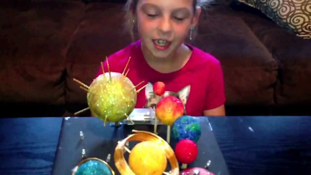 Jaime's budget friendly 3rd grade Solar System Project that lights up -  YouTube [ 720 x 1280 Pixel ]
