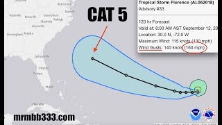 NEW - Hurricane Florence to be CAT 5 - NHC