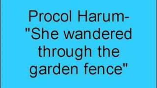 Procol Harum- She wandered through the garden fence