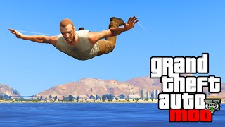 GTA 5 Mods - FUNNY FLYING MODS & SONIC BOOM MOD! GTA 5 PC Mods Funny Moments Gameplay!