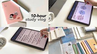 개강하자마자 10시간 공부 브이로그 | 과대표, 언어치…