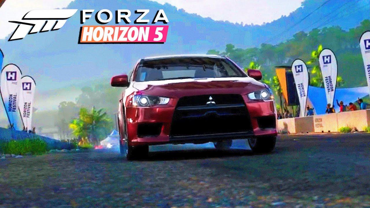 NOVA GAMEPLAY DE LANCER EVOLUTION NO FORZA HORIZON 5