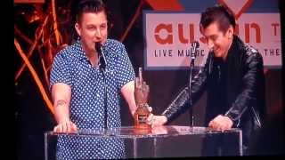Arctic Monkeys win Best British Band at the NME Awards 2014