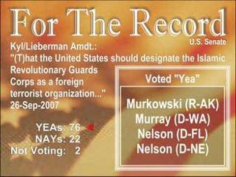 Kyl/Lieberman Amendment- S.AMDT.3017
