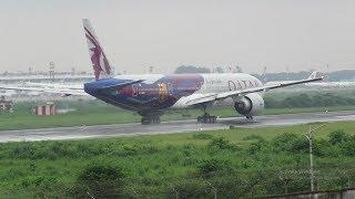 [HD] Plane Spotting @ Hazrat Shahjalal Int'l Airport, Dhaka: Episode-125 (FC Barcelona Livery)