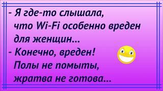 Я где-то слышала, что Wi-Fi вреден для женщин.../ Юмор / АНЕКДОТЫ /