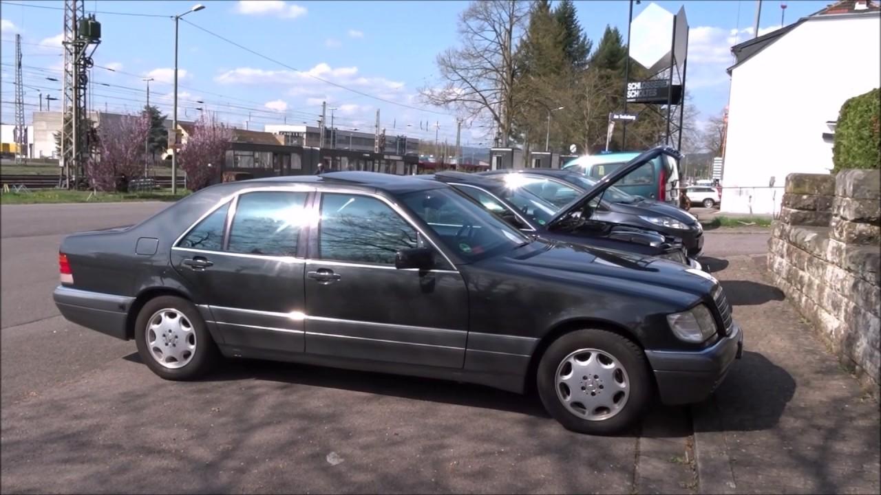 Ауди А8 заехала в гости к W140. - YouTube